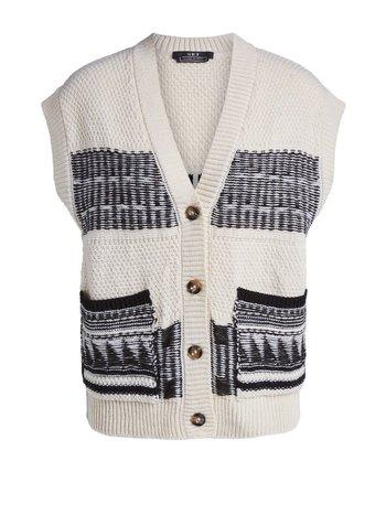 SET Spencer vest striped