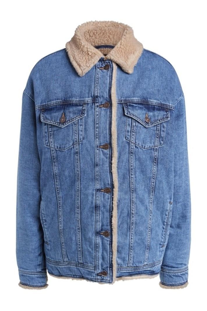SET Jacket denim with teddy