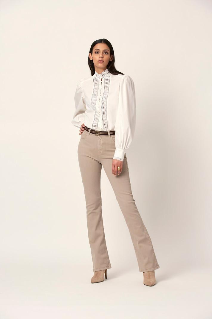 Dante 6 Bijou blouse milk white