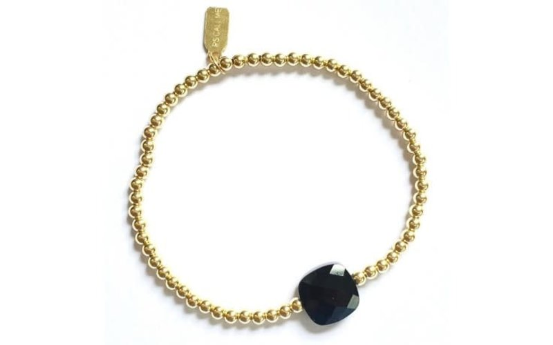 Ps Call Me Bracelet gold coloured onyx