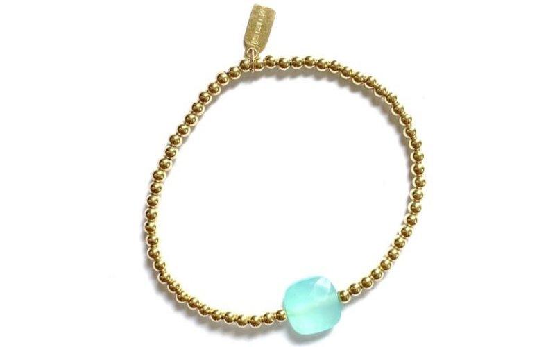 Ps Call Me Bracelet gold coloured amazonite