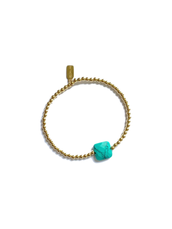 Ps Call Me Bracelet gold coloured turquoise