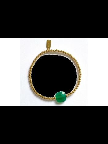 Ps Call Me Bracelet gold coloured smaragd