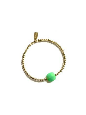 Ps Call Me Bracelet gold coloured green
