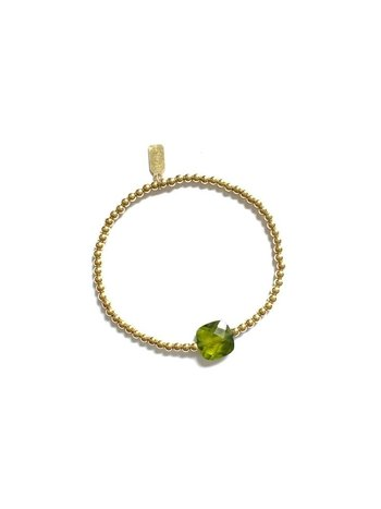 Ps Call Me Bracelet gold coloured green shine