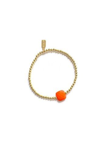 Ps Call Me Bracelet gold coloured orange