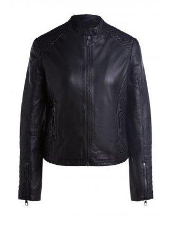 SET Leather jacket black