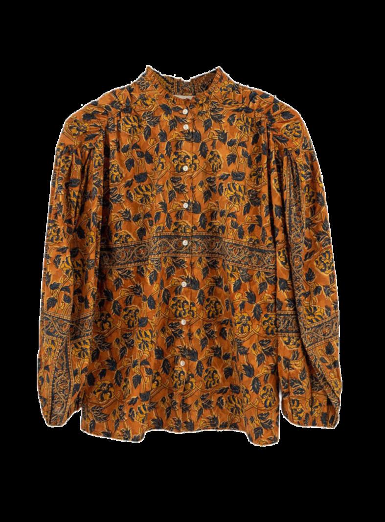 Antik Batik Blouse Fanny brown