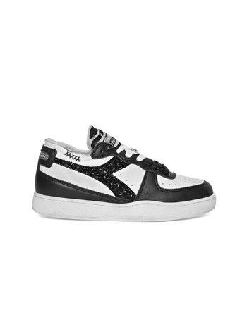 Diadora Basket row cut white/black