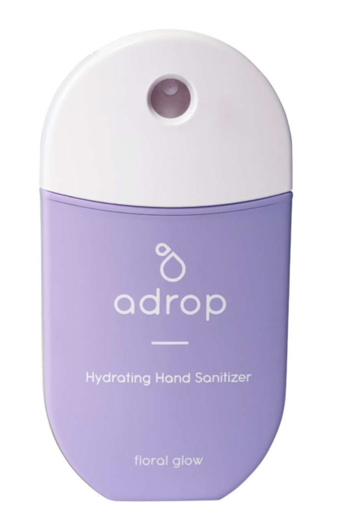 Adrop Hydrating hand sanitizer spray floral glow
