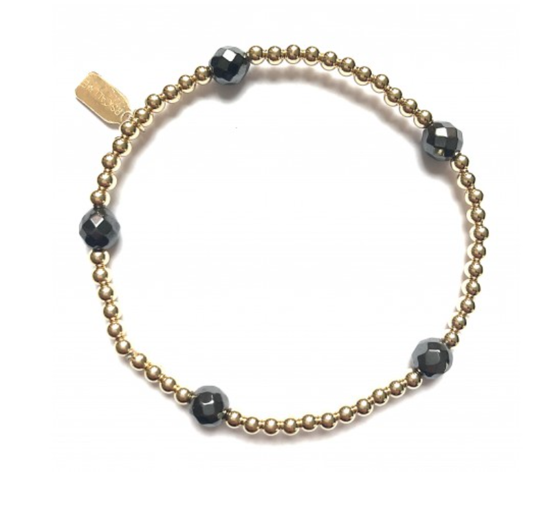 Ps Call Me Bracelet dot 5 hematite gold coloured