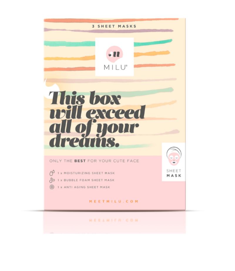 3 Sheet Mask gift box