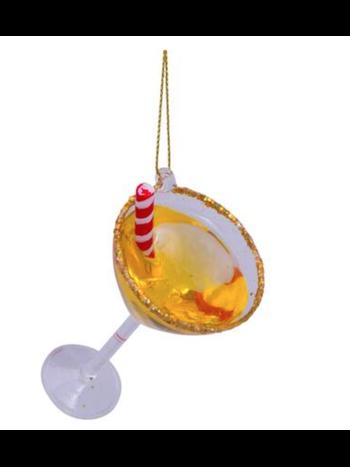 Vondels Amsterdam Kersthanger cocktail with straw H3cm