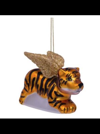 Vondels Amsterdam Kersthanger tijger met gouden vleugels H6.5cm