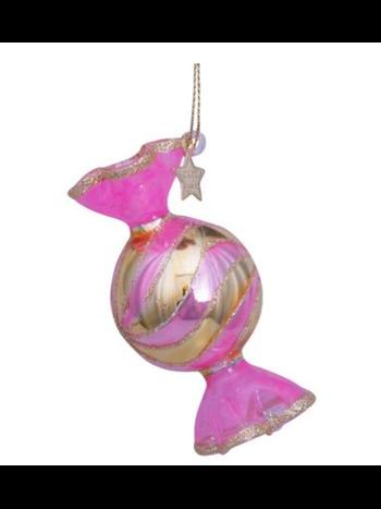 Vondels Amsterdam Kersthanger licht roze snoepje H7cm