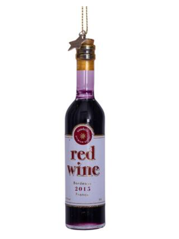 Vondels Amsterdam Kersthanger fles rode wijn H11cm