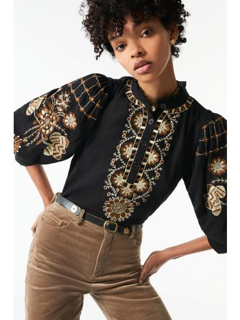 Antik Batik Cami blouse black