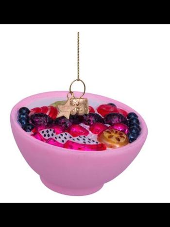 Vondels Amsterdam Kersthanger roze matte fruitschaal H5.5cm