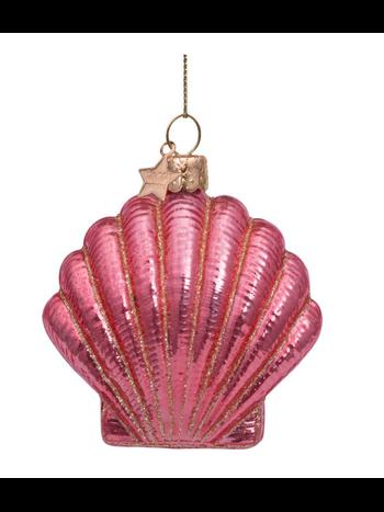 Vondels Amsterdam Kersthanger roze schelp H7.5cm