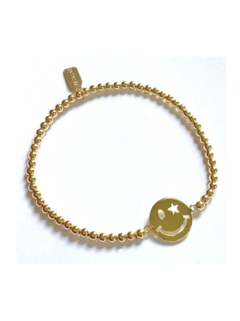 Ps Call Me Bracelet gold smiley star