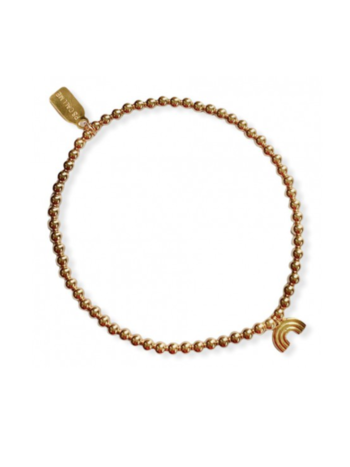Ps Call Me Bracelet gold small rainbow