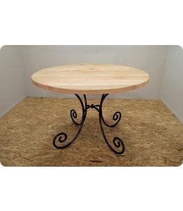 HET TAFELARSENAAL Ronde tafel Sutton III Vleugelnotenhout Ø 118 cm