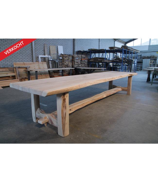 HET TAFELARSENAAL Metasequoia boomstamtafel Kingswear houten onderstel met stretch