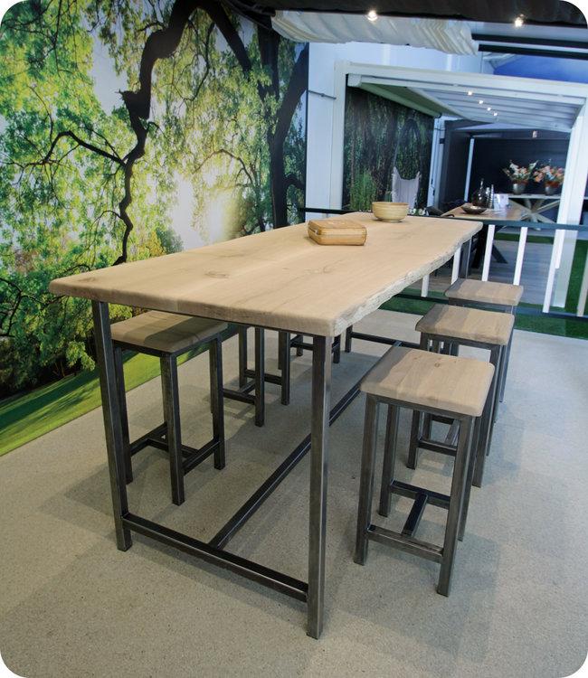 HET TAFELARSENAAL Boomstam bartafel van eikenhout 270 x 100 cm