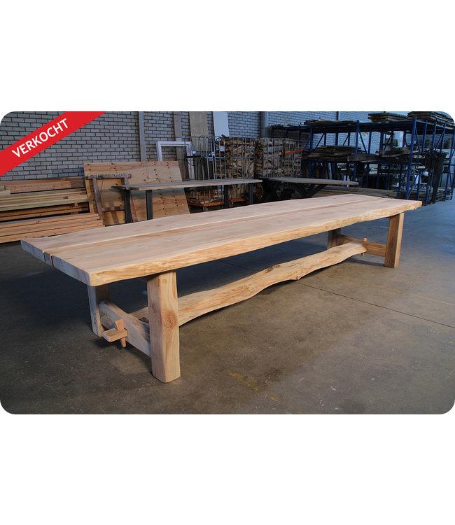 HET TAFELARSENAAL Metasequoia boomstamtafel Kingswear II - houten onderstel met stretch