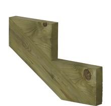 Trapbalk-trapwang 2 treden van geïmpregneerd hout voor tuintrap