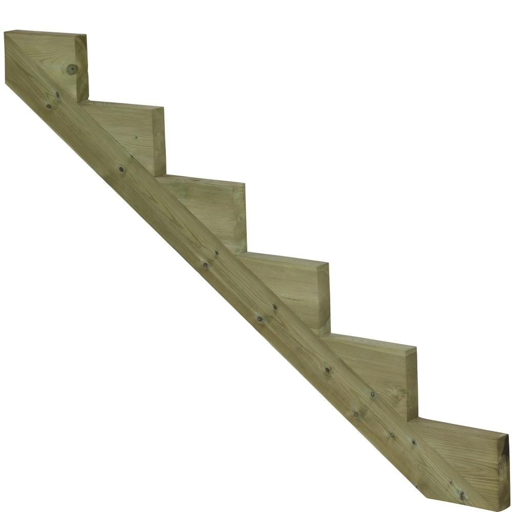 Plus Danemark Staircase stringer of impregnated wood for garden stairs