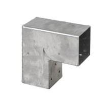 Pergola CUBIC gegalvaniseerd hoekprofiel voor houten palen van 7x7 cm