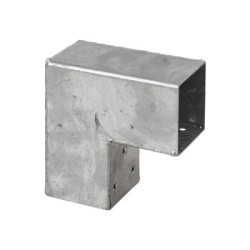Pergola CUBIC 2-way corner bracket for 7x7 cm