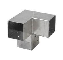 Pergola CUBIC gegalvaniseerd dubbel hoekprofiel voor houten palen van 7x7 cm