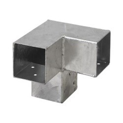 Pergola CUBIC 3-way corner bracket for 7x7 cm