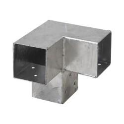 Pergola CUBIC 3-way corner bracket for 7x7 cm