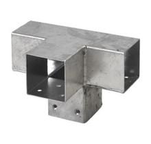 Pergola CUBIC gegalvaniseerd 4-weg profiel voor houten palen van 7x7 cm