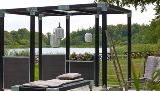 Plus Cubic - create your own pergola or garden fence, in your garden, on your rooftop, patio or balcony!