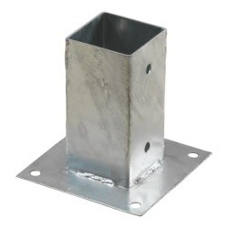 Pergola CUBIC floor bracket for 7x7 cm