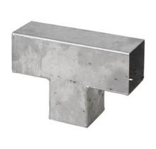 Pergola CUBIC gegalvaniseerd T-stuk voor houten palen van 9x9 cm