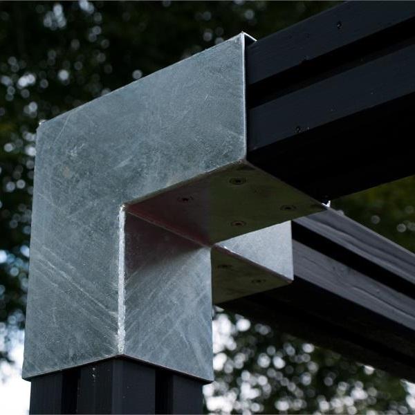 Pergola Cubic 3 Way Corner Bracket For 9x9 Cm Post Beam