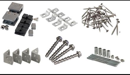 Accessoires de montage pour brise-vue, rambarde, clôture, bardage, grillage, claustra, palissade
