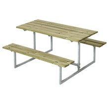 Design children's picnic table in galvanized steel and wood 110x110x57cm