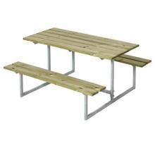 Design kinderpicknicktafel gegalvaniseerd staal en geimpregneerd hout 110x110x57cm