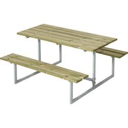 Design kinderpicknicktafel gegalvaniseerd staal en geimpregneerd hout