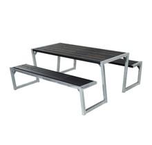 ZIGMA design picknicktafel van geimpregneerd hout met stalen onderstel 190 x 176 x 72 cm