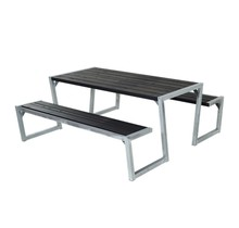 Zigma design picnic table made of impregnated wood with steel frame 190 x 176 x 72 cm