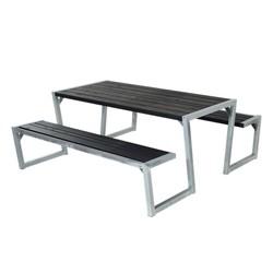 ZIGMA design picknicktafel van geimpregneerd hout met stalen onderstel