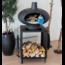 MORSØ Morso Forno Terra four à pizza au bois en fonte avec petite table sur roulettes 60cm