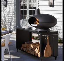Morso Forno Garden - Pizzaoven, houtoven en barbecue of smoker met tafel 120cm